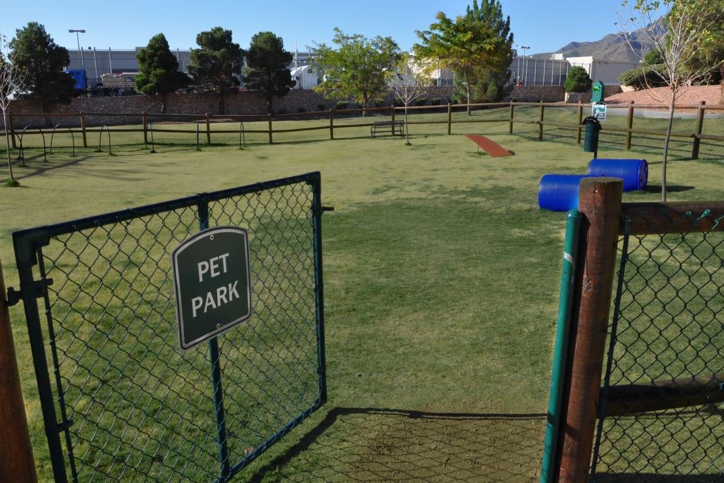 The dog park at The Patriot Apartments in El Paso, Texas
