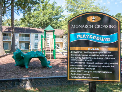 Monarch Crossing Apartment Homes offers a large playground.