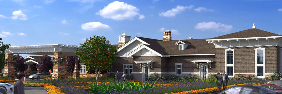 Future Clearwater Senior Living community in North Tustin, California