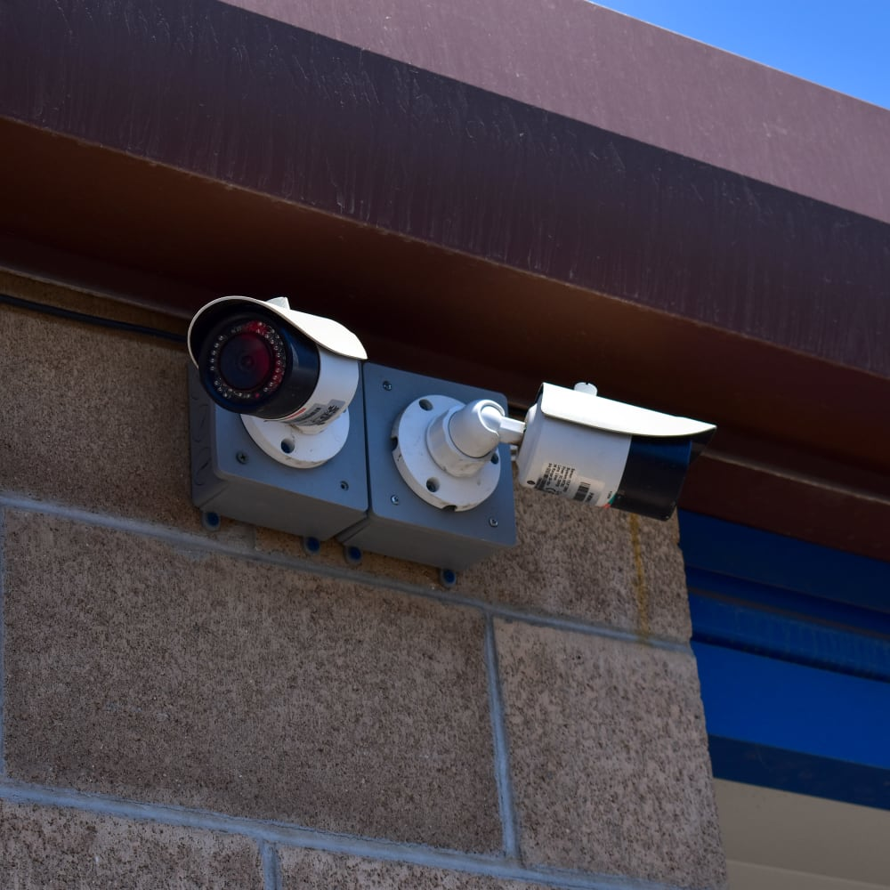 Video surveillance cameras at STOR-N-LOCK Self Storage in Salt Lake City, Utah