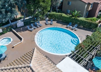 Swimming pool at apartments in Rowland Heights