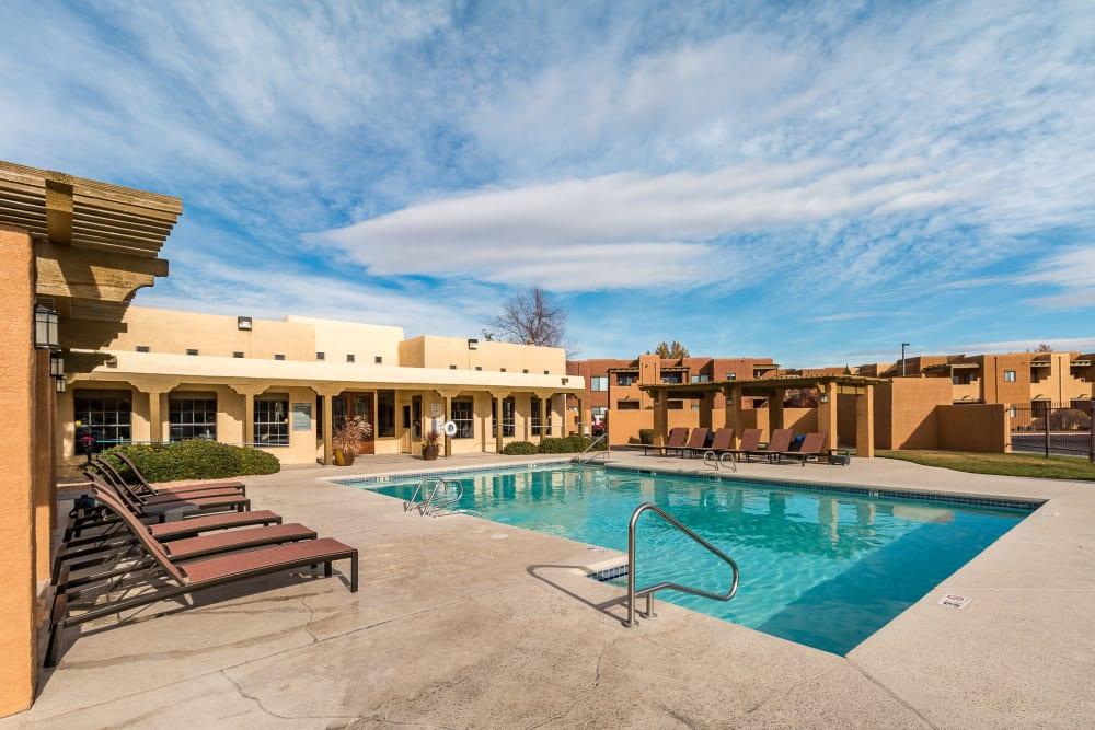 Outdoor pool at San Miguel del Bosque in Albuquerque, New Mexico