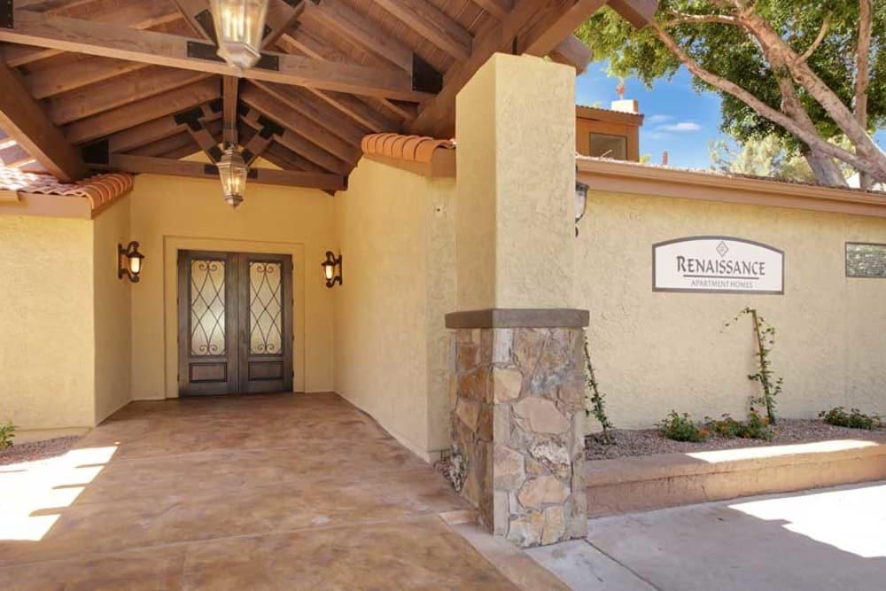 Front entrance at Renaissance Apartment Homes in Phoenix, Arizona