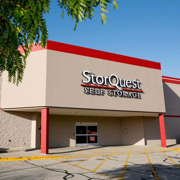 Exterior of StorQuest Self Storage in Madison, Wisconsin