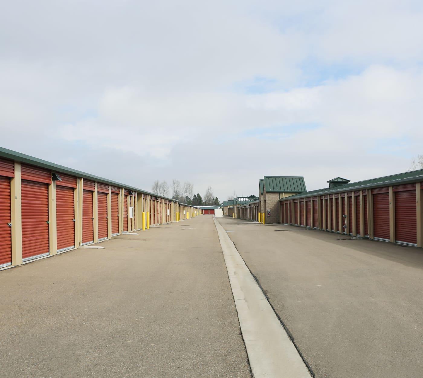 Ground-floor unit at Clover Basin Self-Storage in Longmont, Colorado