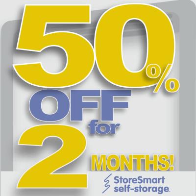 Special at StoreSmart Self-Storage