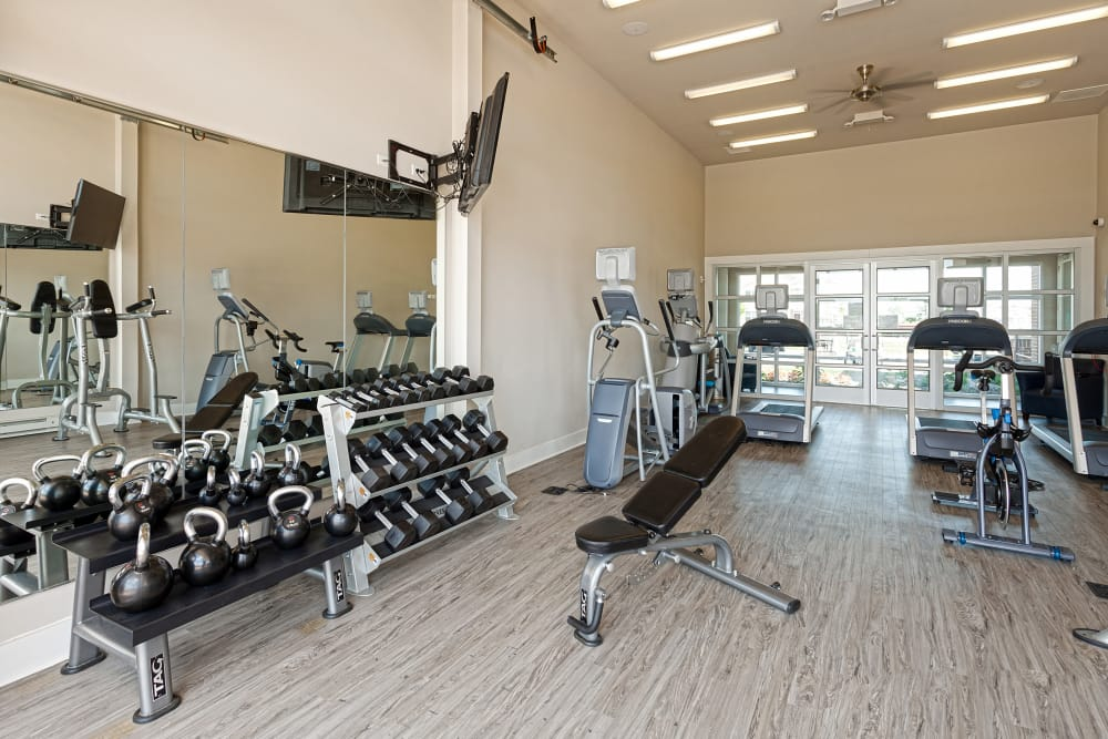 Fitness center at Springs at South Broadway in Rochester