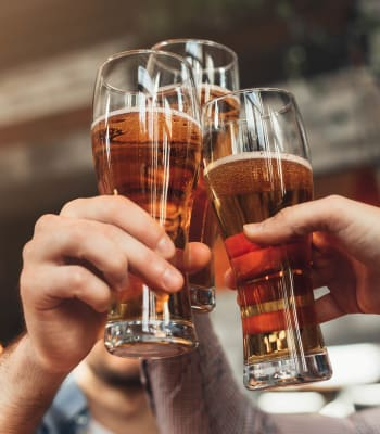 Residents toasting to their new life at a bar near Sandpiper Village Apartment Homes in Vacaville, California