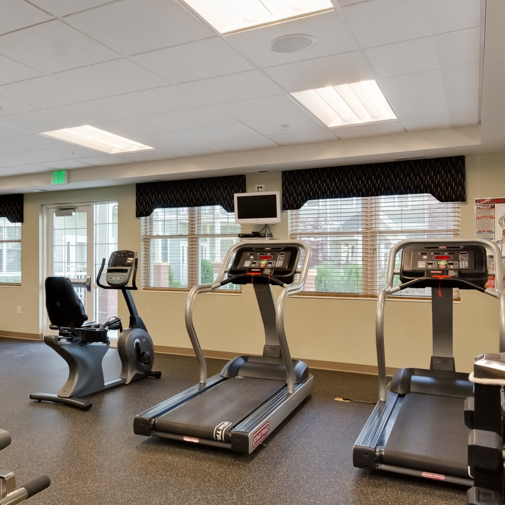 Fitness center at Applewood Pointe Bloomington at Southtown in Bloomington, Minnesota.