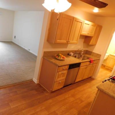 Cozy kitchen at  Cedar Hills Apartments in Portland, OR