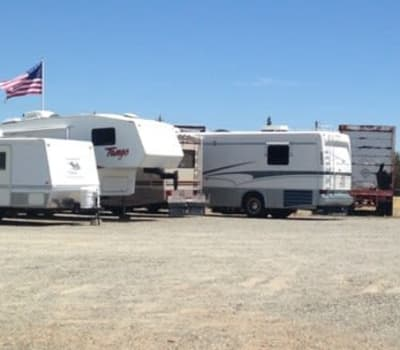 RV boat and auto storage at Baker Road Mini Storage in Red Bluff