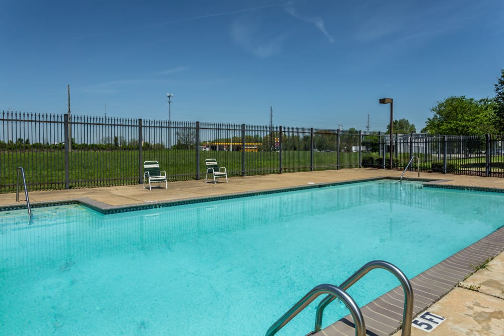 The gated community pool at The Pointe at Ridge Cove in Jackson, Tennessee