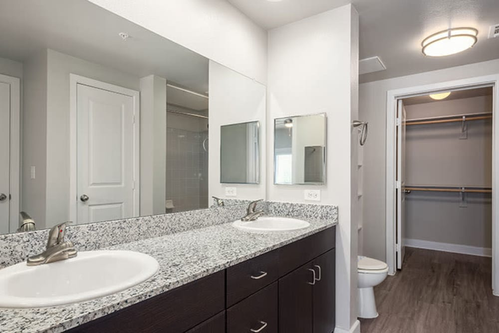Modern Bathroom Addison Keller Springs in Addison, Texas.