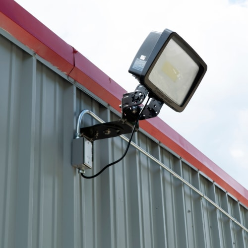 Bright exterior lighting at Red Dot Storage in Ashland, Kentucky