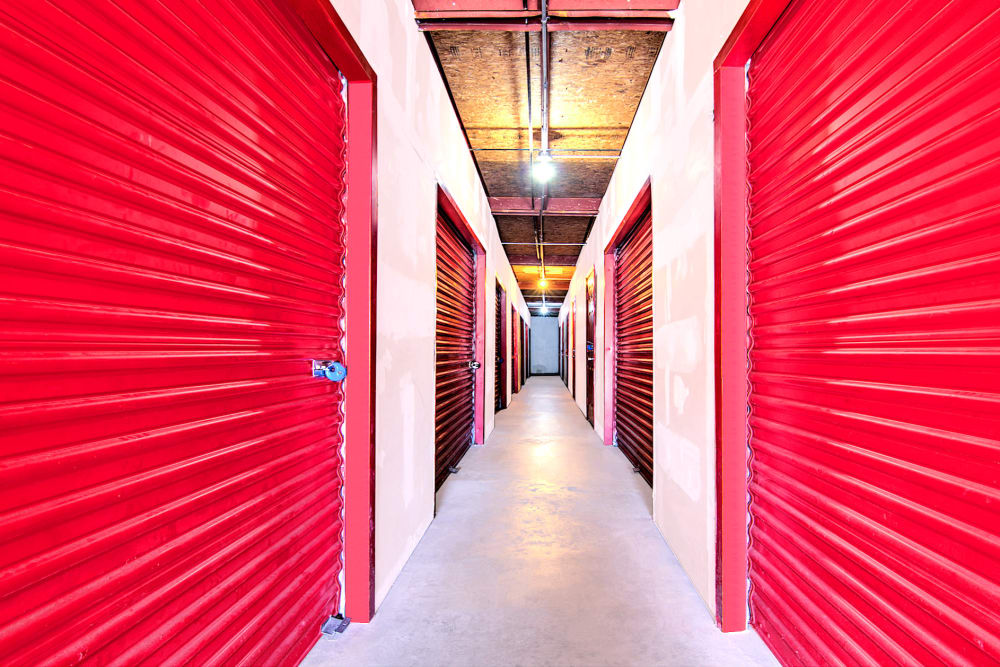 Indoor storage units at Prime Storage in Newport News, Virginia