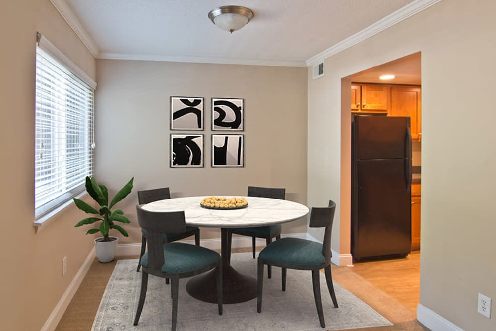Spacious dining room at The Trails of North Hills