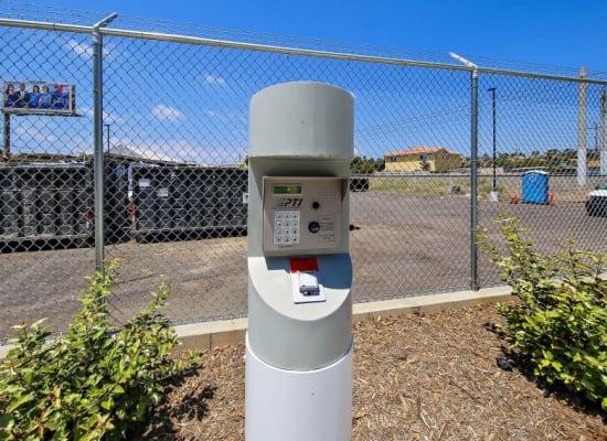 Coded keypad entry at A-1 Self Storage in Vista, California