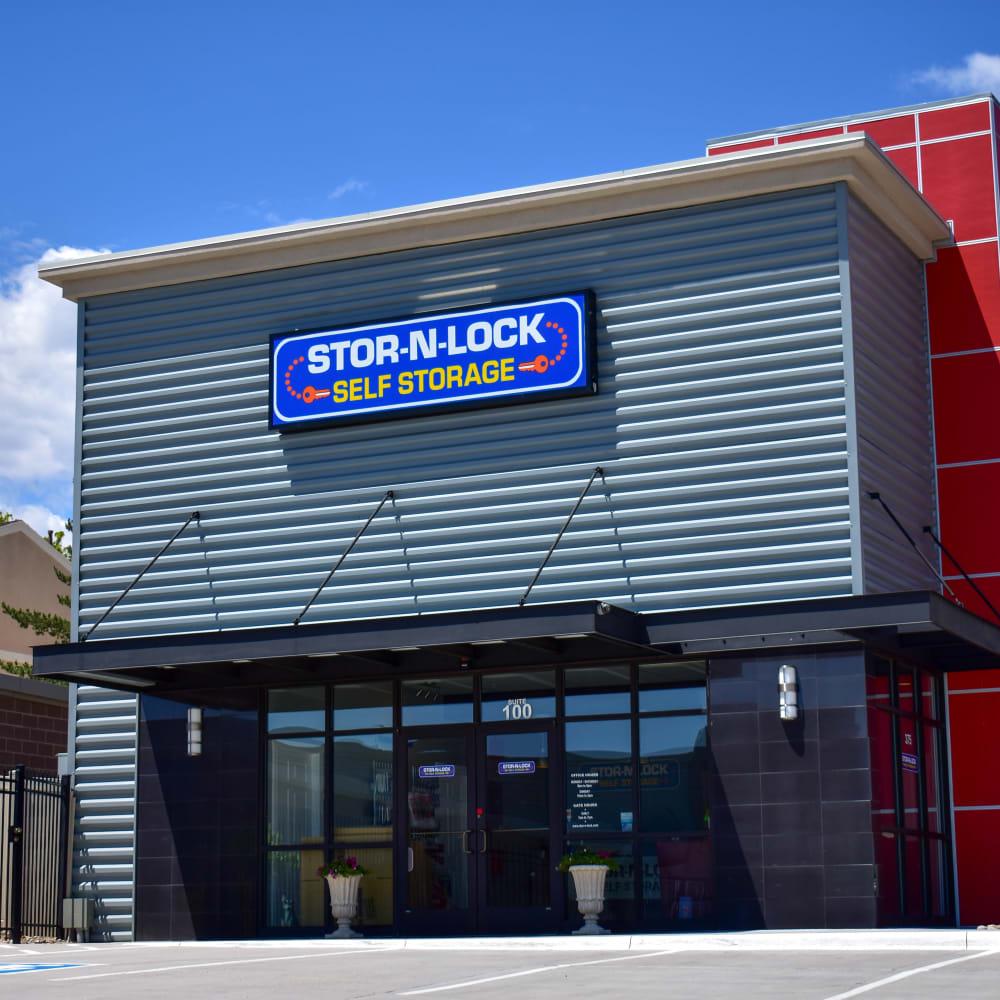 The front door at STOR-N-LOCK Self Storage in Colorado Springs, Colorado