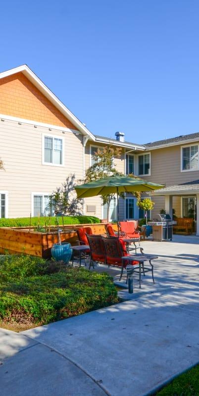Exteriors of The Commons at Elk Grove in Elk Grove, California