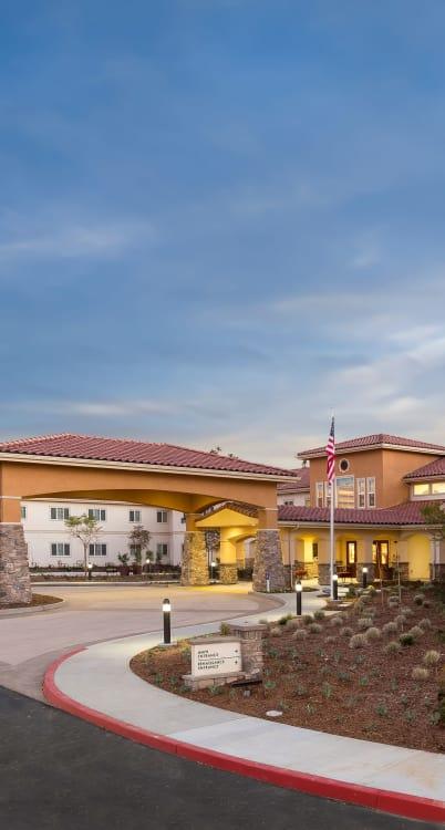 Exterior view of our building at Estancia Del Sol in Corona, California