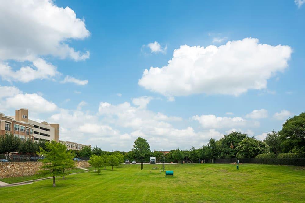 Park area Addison Keller Springs in Addison, Texas.
