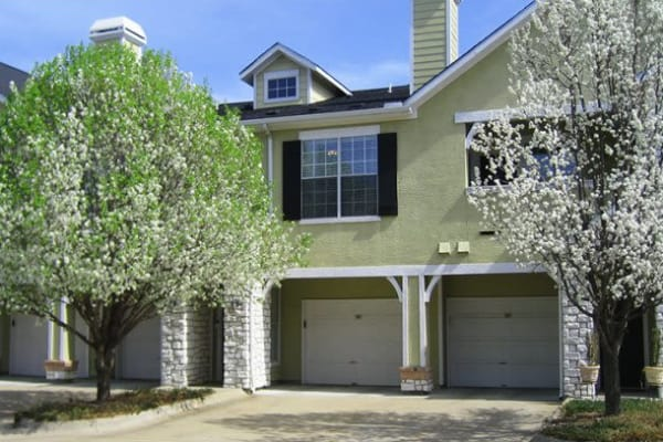 Garages available at Stonehaven Villas in Tulsa, Oklahoma
