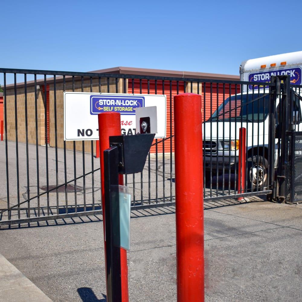 Keypad entry at STOR-N-LOCK Self Storage in Taylorsville, Utah