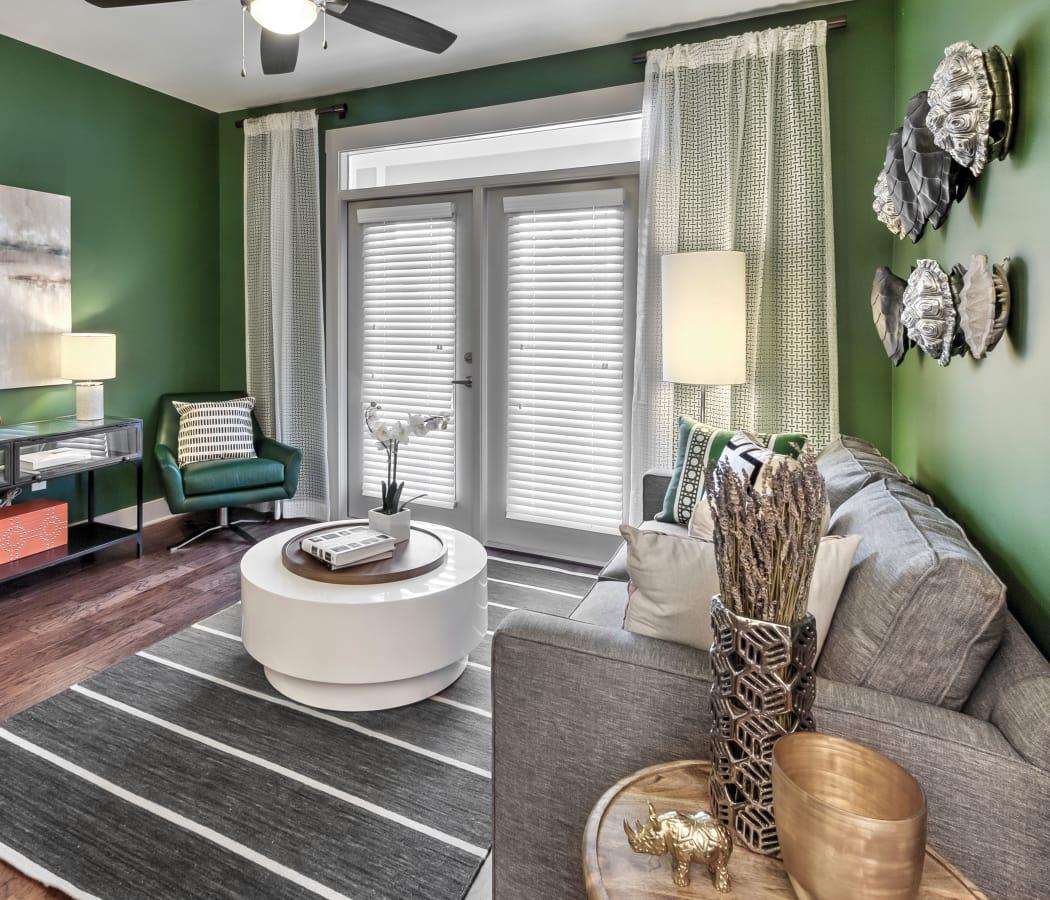 living room at Juncture in Alpharetta