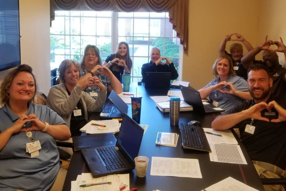 The caring staff at Ashford Place Health Campus in Shelbyville, Indiana
