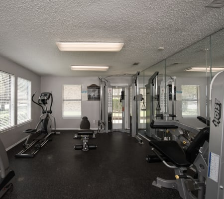 Community gym at Wooded Creek