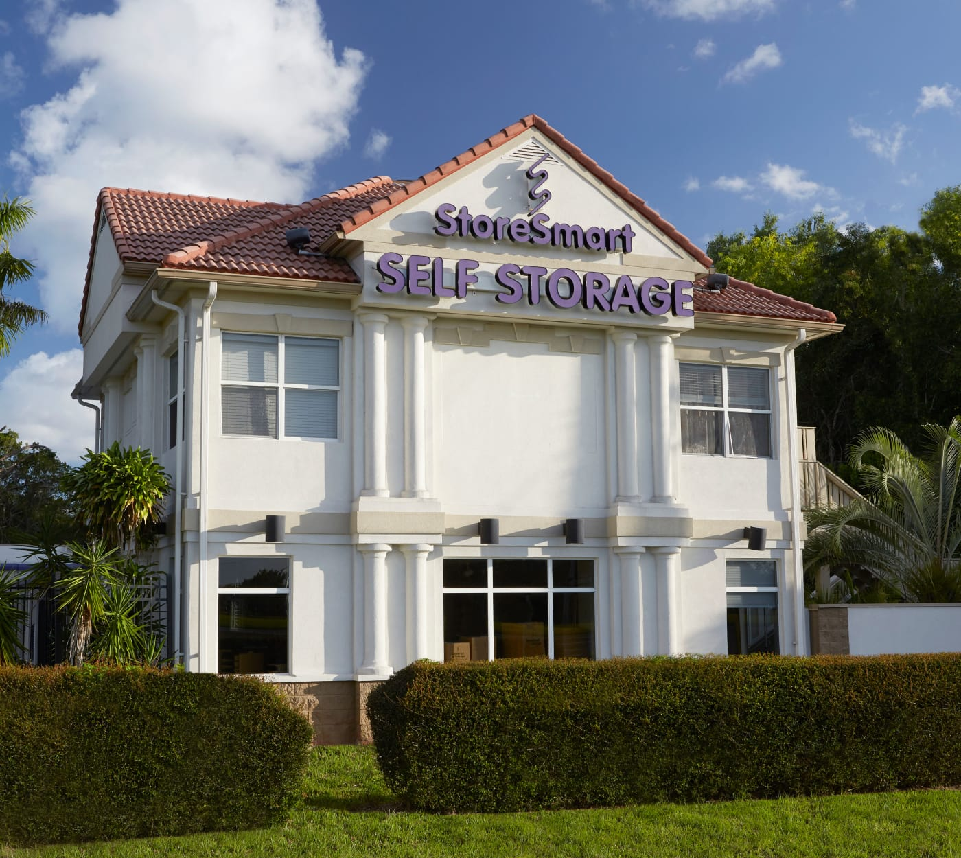 Entrance to StoreSmart Self-Storage in Naples, Florida