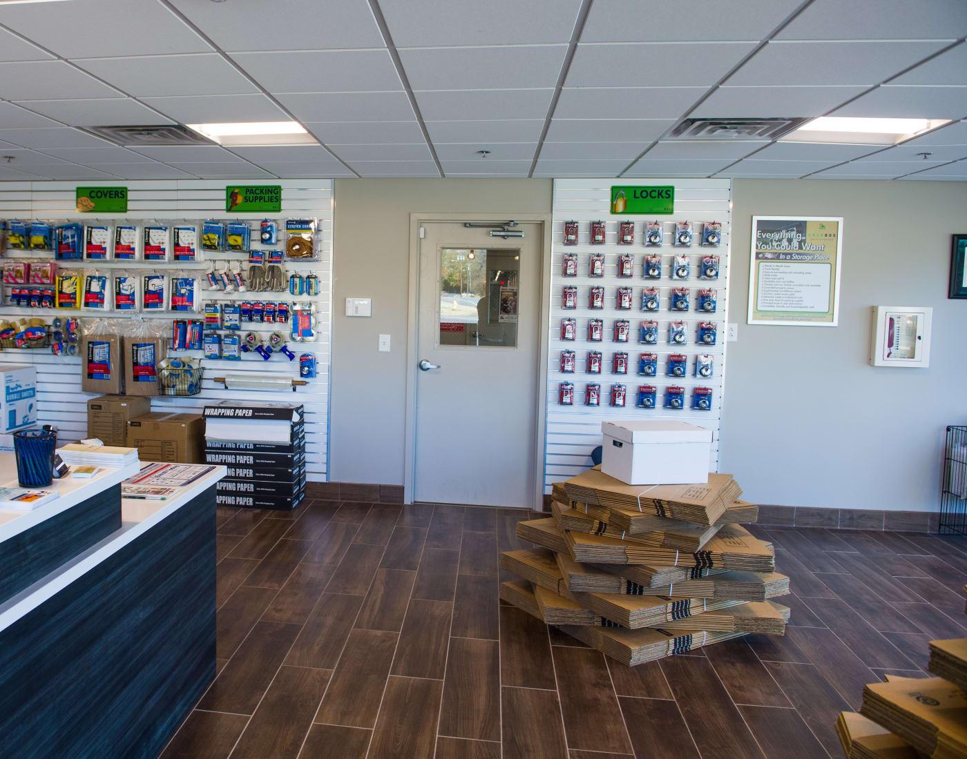 Storage suplies at LockBox Self Storage in Greenville, South Carolina