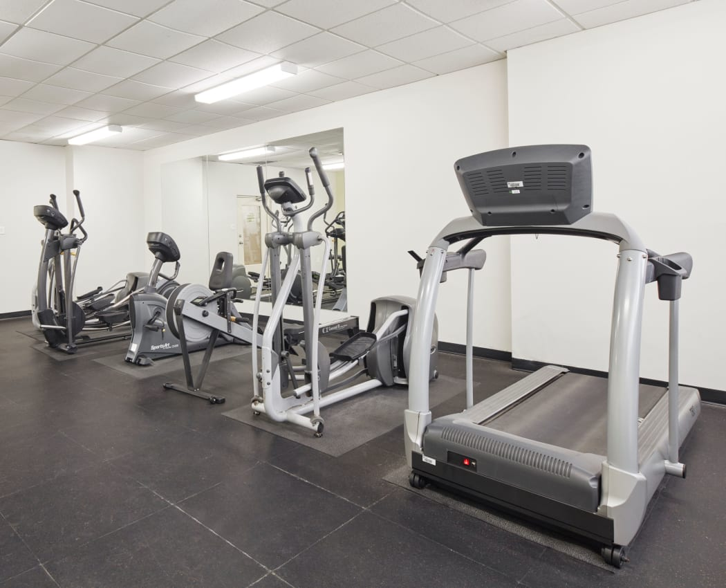 State-of-the-art fitness center at Mississauga Place in Mississauga, Ontario