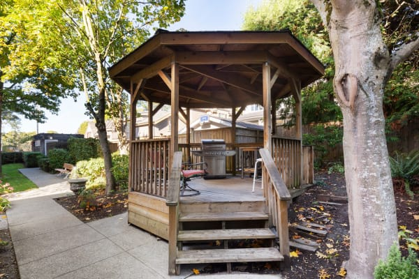 Larchway Gardens gazebo in Vancouver, British Columbia