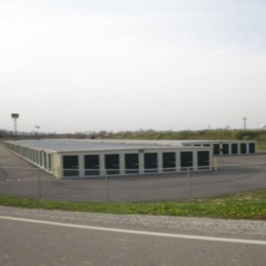 Exterior storage units at Etna Storage in Pataskala, Ohio