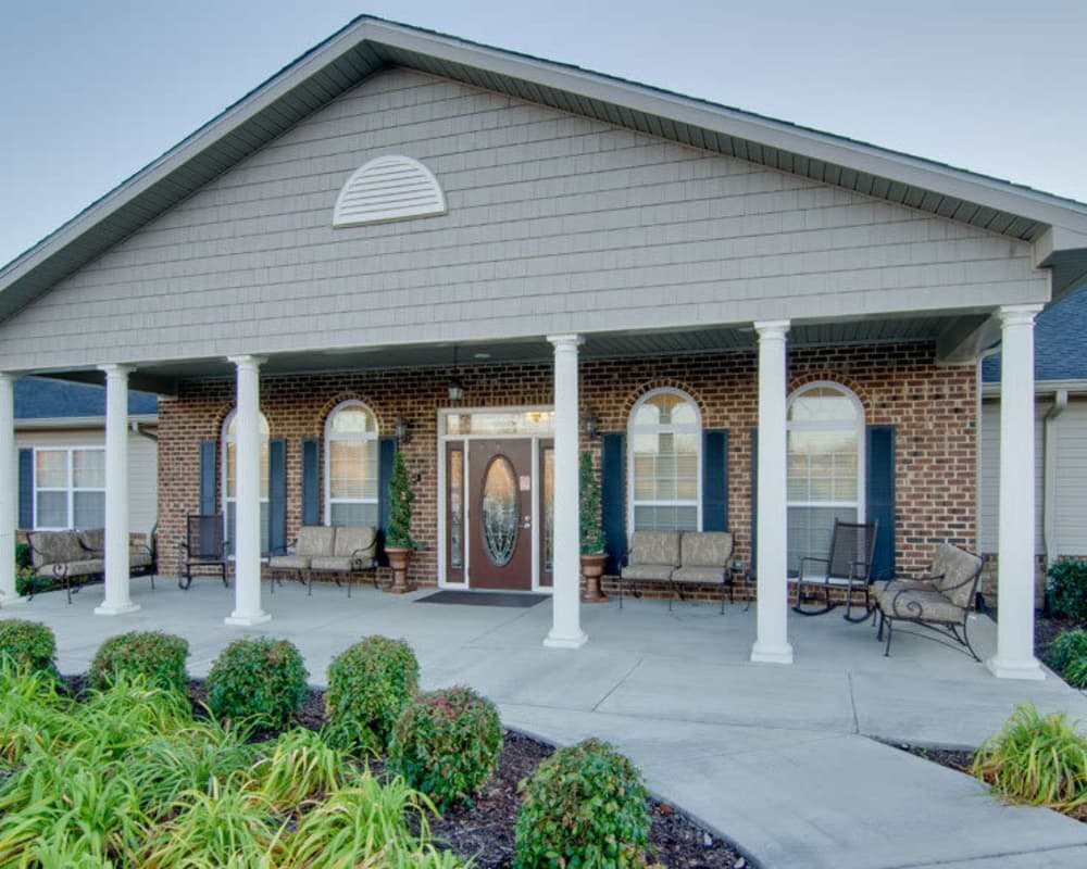 Front entrance at Westport Estates Senior Living in Marshall, Missouri