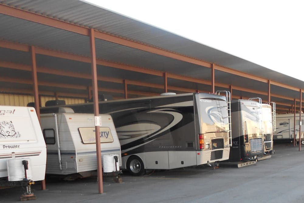 RV storage at Aarons Self Storage 4 in Waco, Texas