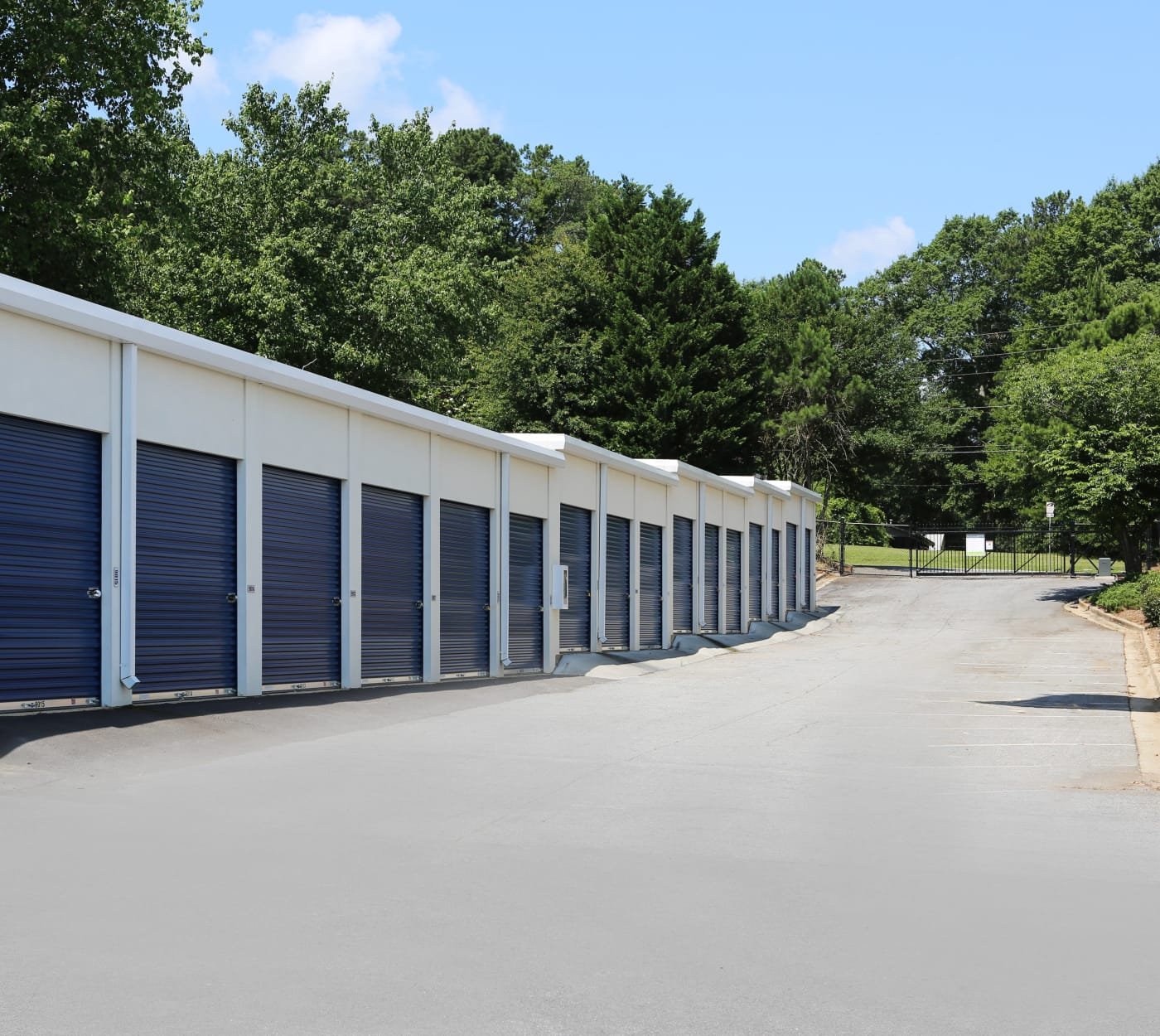 Ground-floor unit at Midgard Self Storage in Greenville, South Carolina