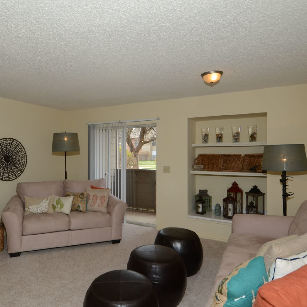 Wonderful living room at Newport Apartments in Amarillo, Texas