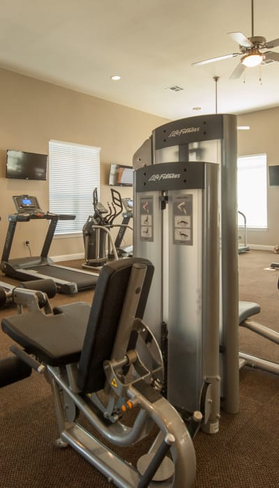 Exercise equipment at Park Rowe Village at Perkins Rowe in Baton Rouge, Louisiana