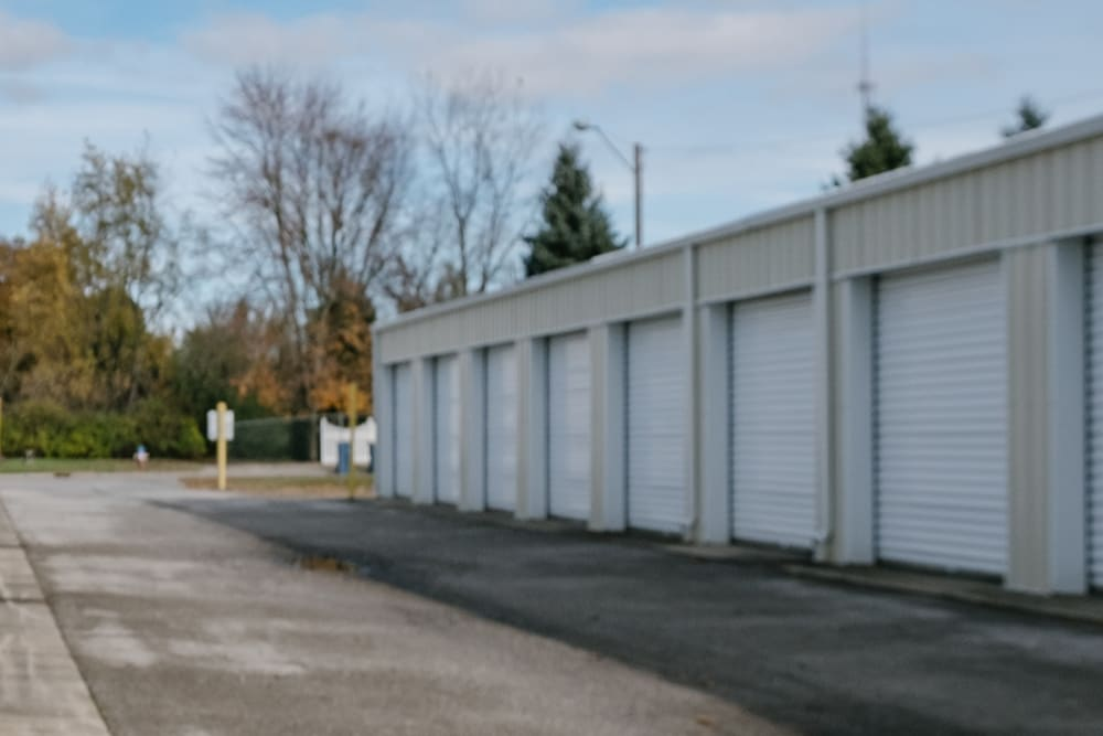 Roll-up doors on self storage units at StayLock Storage in Mishawaka, Indiana