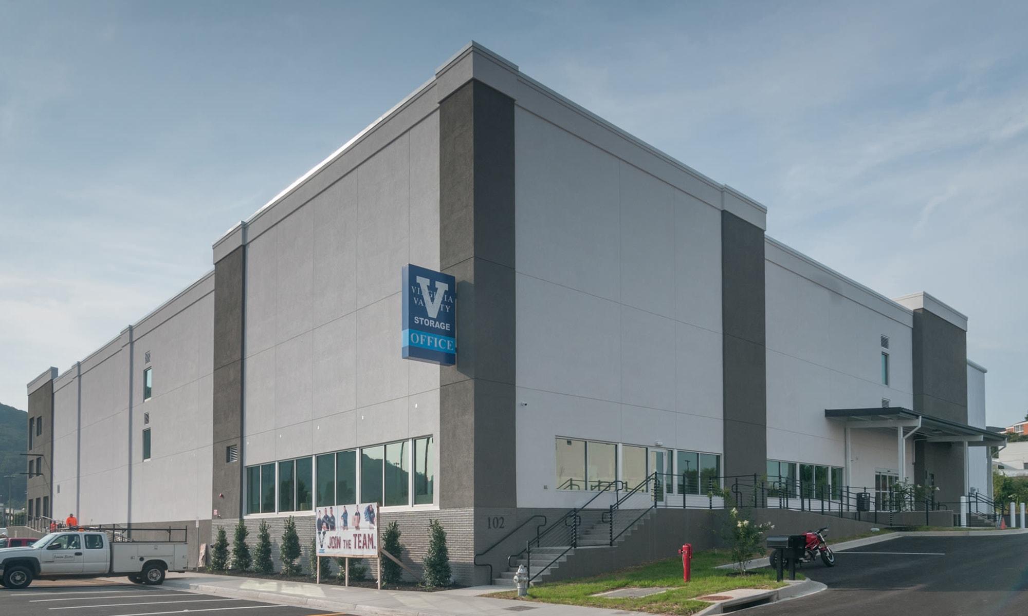 Entrance at Virginia Varsity Storage in Roanoke, Virginia