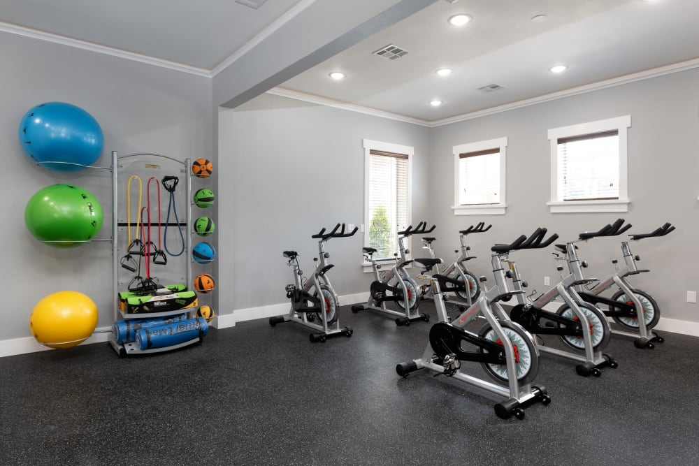 Cycling studio at The Retreat at Cinco Ranch in Katy, Texas