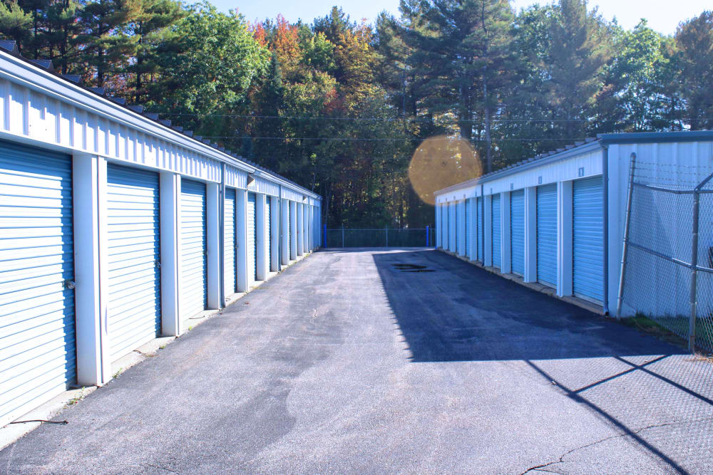 Outdoor storage units at Prime Storage in Saco, Maine