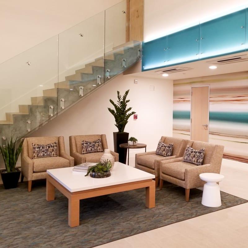 Clubhouse at Hillsborough Plaza Apartments in San Mateo, California