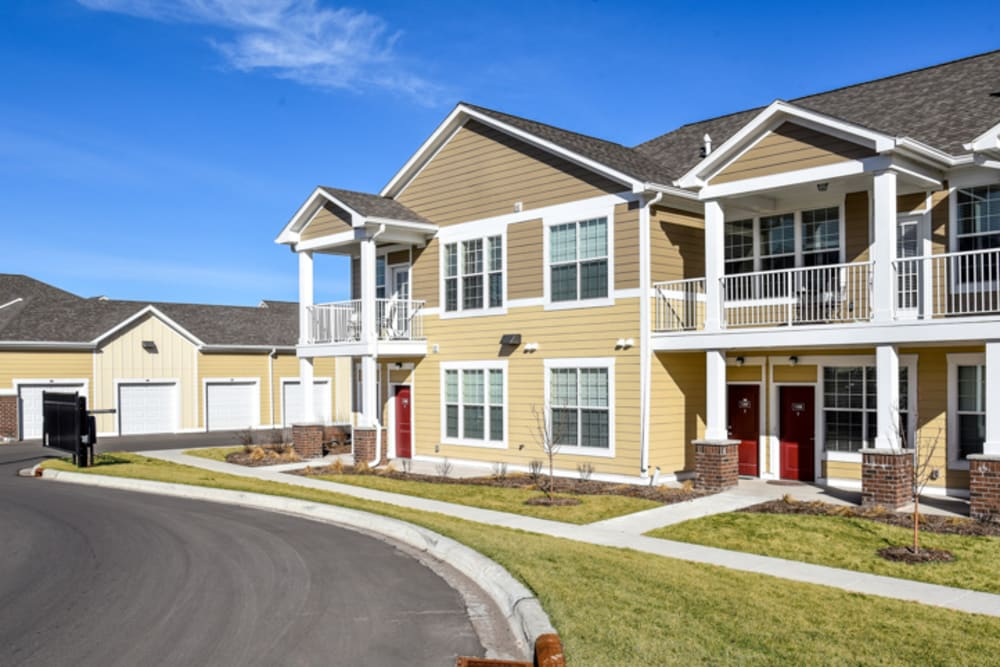 Townhome Style Apartments With Patios and Private Balconies at Springs at Egan Drive in Savage, MN