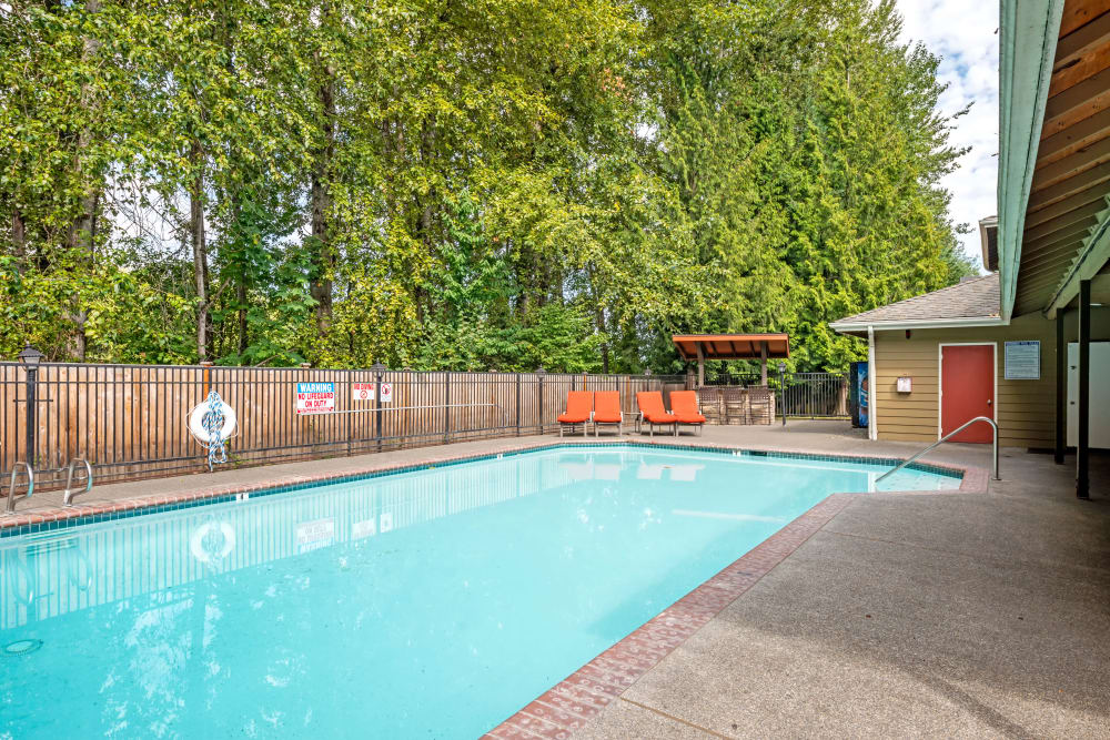 Relaxing pool area at Chestnut Hills Apartments