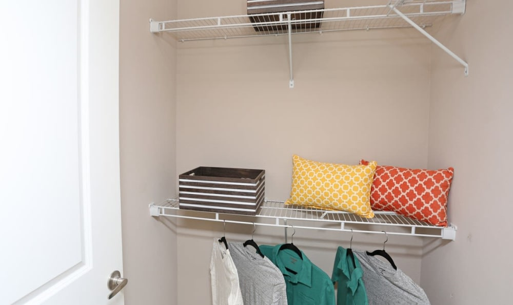 walk in closet at Springs at Hurstbourne in Louisville, KY