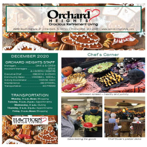 December Orchard Heights Gracious Retirement Living newsletter
