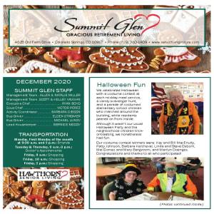 December Summit Glen newsletter